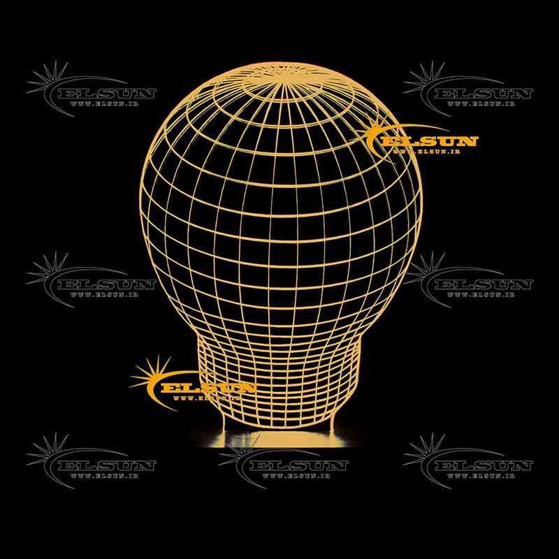 آباژور سه بعدی لامپ