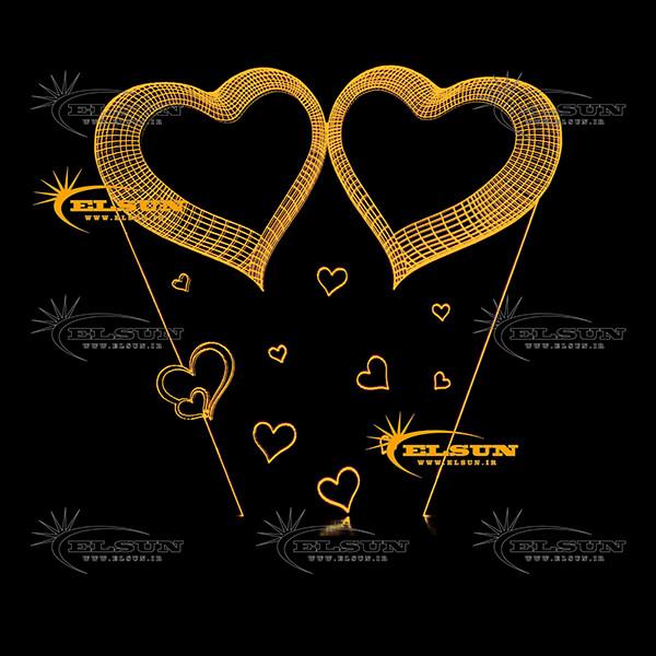 آباژور دو قلب سه بعدی