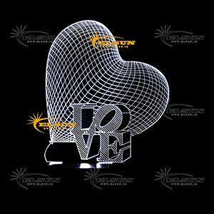 چراغ خواب سه بعدی طرح 57 - فروشگاه السان
