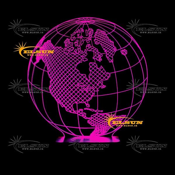 چراغ خواب سه بعدی کره زمین