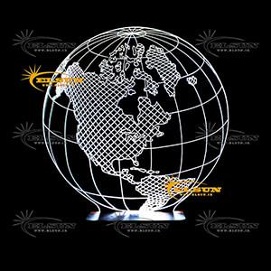 چراغ خواب سه بعدی طرح 59 (کره زمین)