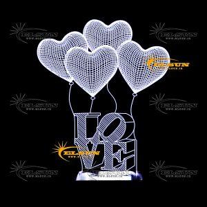 بالبینگ بادکنک قلب + Love