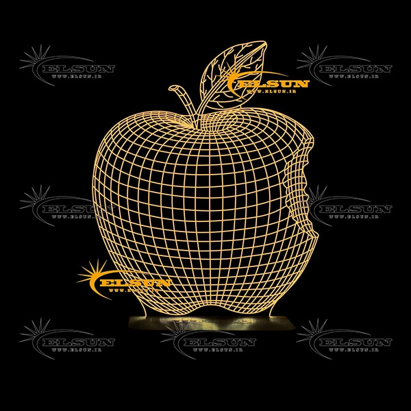 آباژور سه بعدی سیب